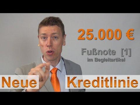 25.000 € Rahmenkredit als Notfall-Kreditlinie ► Idee + Umsetzung