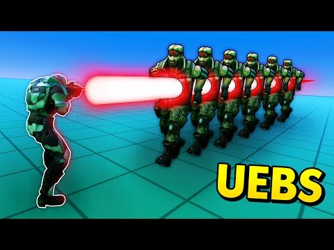 KILLING CHUCK NORRIS WITH A MASSIVE LASER! (UEBS / Ultimate Epic Battle Simulator Funny Gameplay)