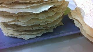 طريقة عمل رقائق الرقاق How to make Roqaq slices