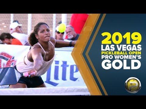 Pro Women's GOLD Medal Match From The 2019 Las Vegas Pickleball Open