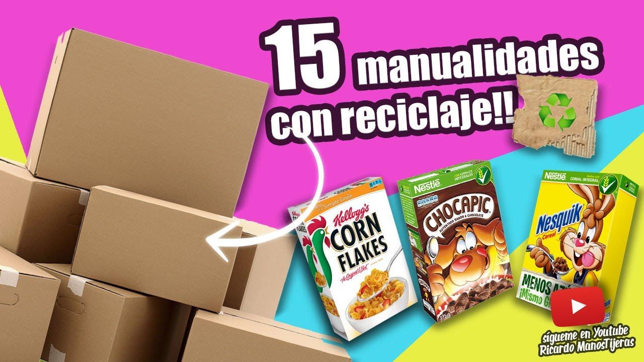 Manualidades Reciclaje 15 Manualidades Con Reciclaje Youtube