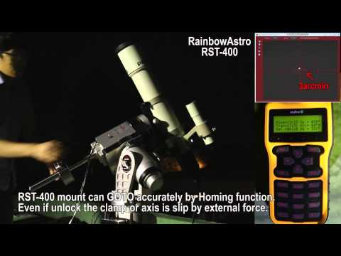 RainbowAstro RST-400 homing, goto, parking