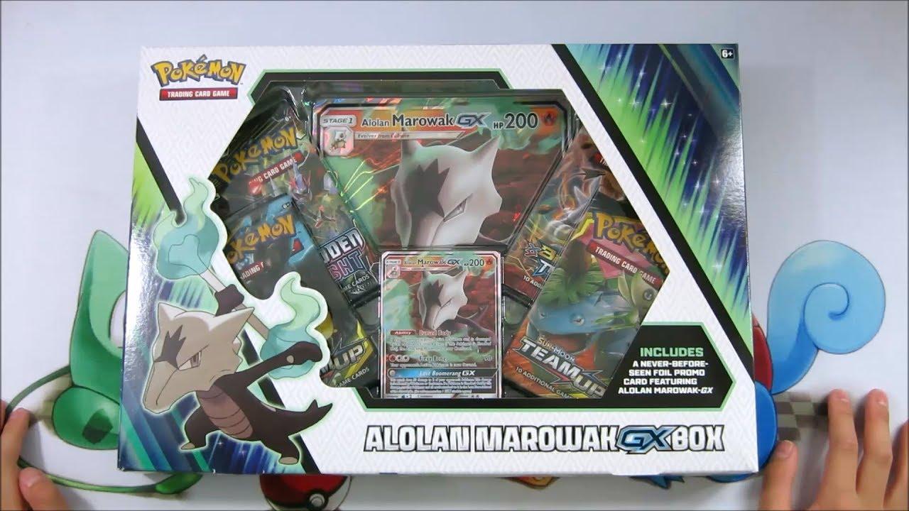 A Foil Oversize Card Pokemon TCG: Alolan Marowak-Gx/Box 4 Booster Pack A Foil Promo Card