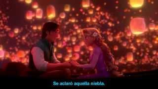 Veo en ti la luz - Enredados - Karaoke Con letra en Español - Chayanne y Danna Paola - Rapunzel