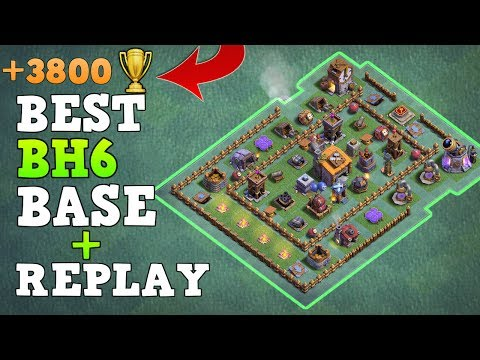 Builder Hall 6 Base BH6 / Builder Base 6 wReplay!! / COC Anti 3 Star Trophy Base | Clash of Clans