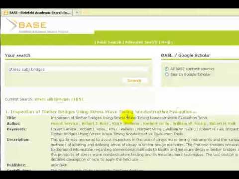 Bielefeld Academic Search Engine (BASE ... - YouTube