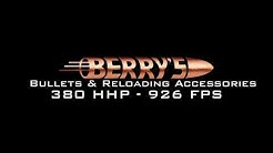 Berry's Superior Plated Bullets .380 - 100 Gr. at 926 FPS