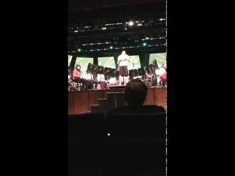 Piner Middle School band playing 21 Guns