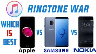 Apple ringtone vs samsung nokia ringtone. which is better audio download link. -------------------------------------------------- iphone...