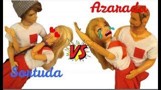 SORTUDA VS AZARADA ( ESCOLA )  NOVELINHA DA BARBIE