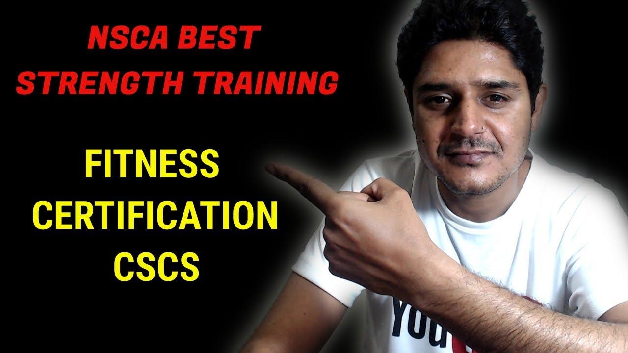Best Strength Training Fitness Certificationnsca Cscs Jump Start