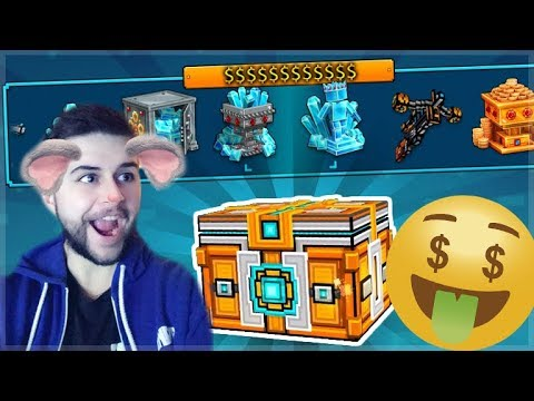 omg! we hit the double jackpot! mega super chest openings!! | Pixel Gun 3D