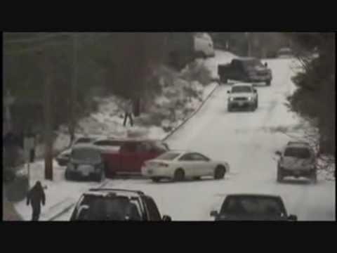 Worst (BEST) Ice Crash Pile up USA