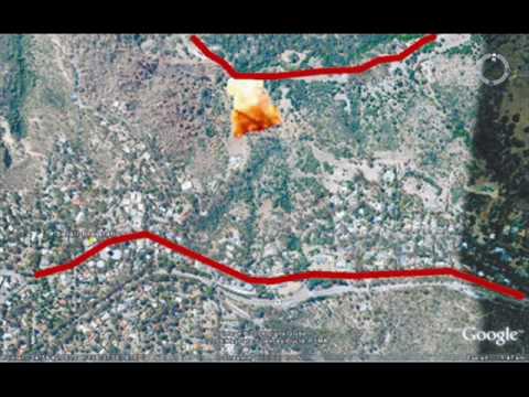 Sturt CFS fire modelling - fire spread in 12 minutes