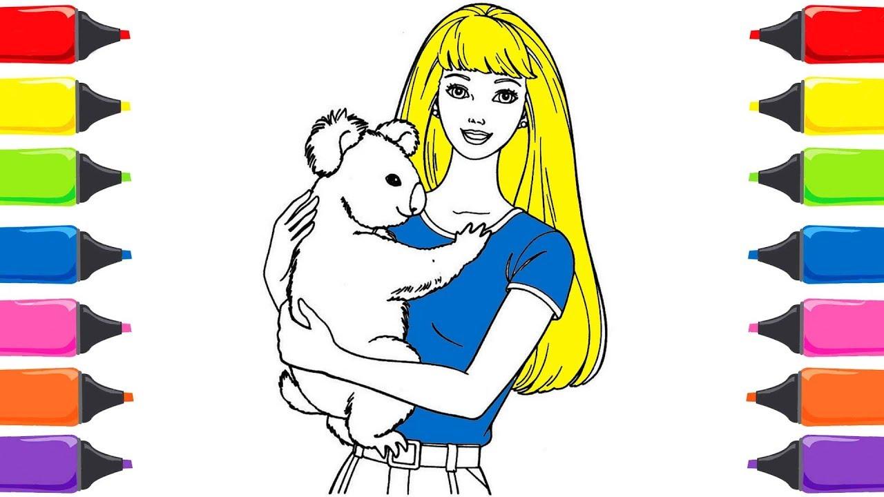 Barbie Ile Boyama Nasıl çizilir Renkleri öğreniyorum Sihirli