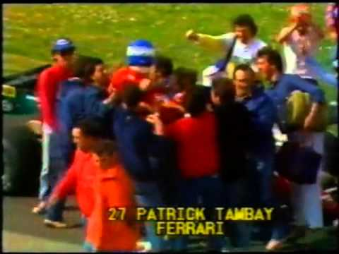 Patrick Tambay Ferrari Winner F1 San Marino 1983 Tifosi celebrate by magistar