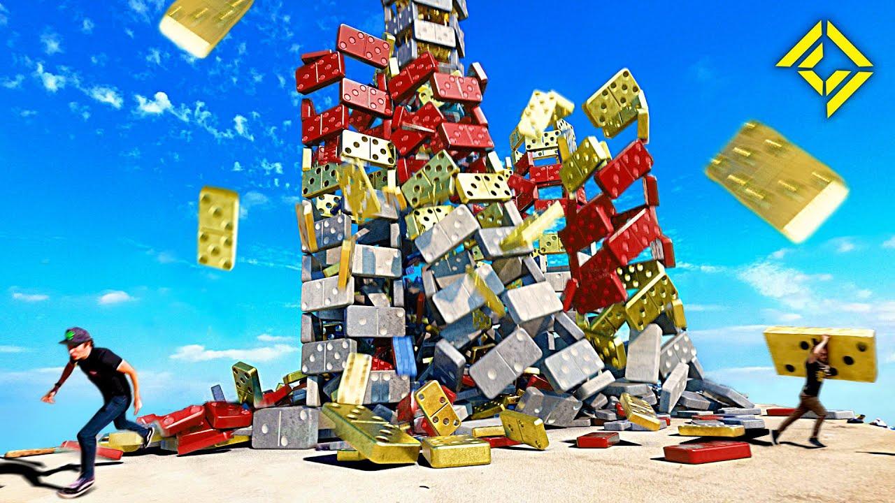 World's BIGGEST Domino Run