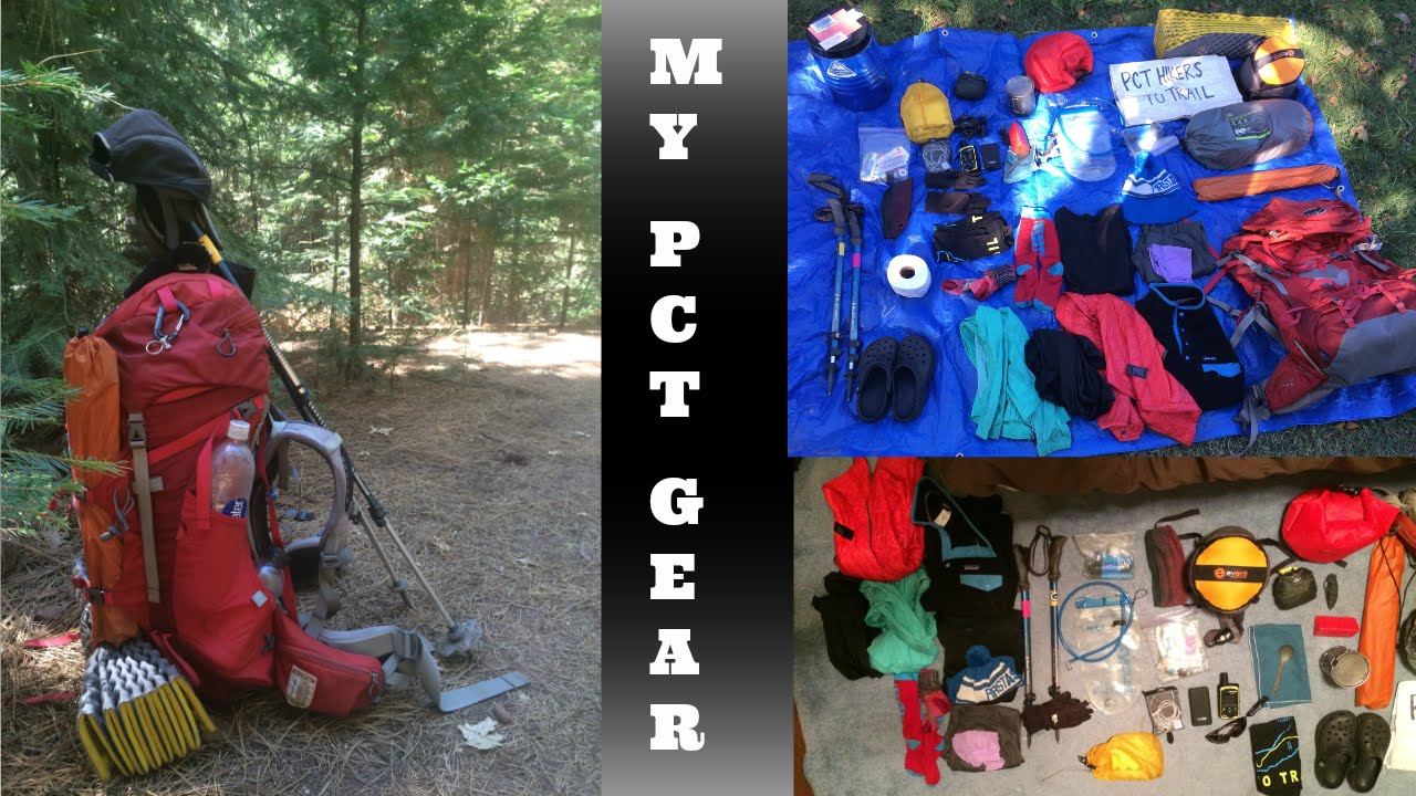 Thru-Hike Gear List | Pacific Crest Trail | - YouTube