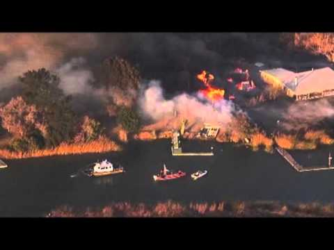 Raw: California Island Fire Out-of-Control