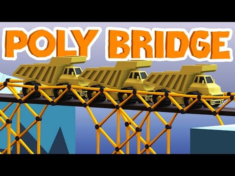 Poly Bridge Gameplay - Triple Trucks! - Let's Play Poly Bridge