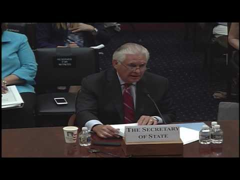 Opening Statement Before House Committee on Foreign Affairs
