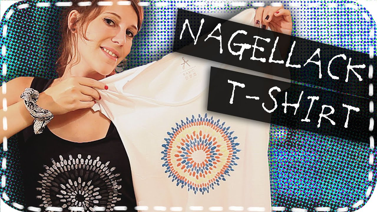 diy nagellack t shirt es funktioniert youtube. Black Bedroom Furniture Sets. Home Design Ideas