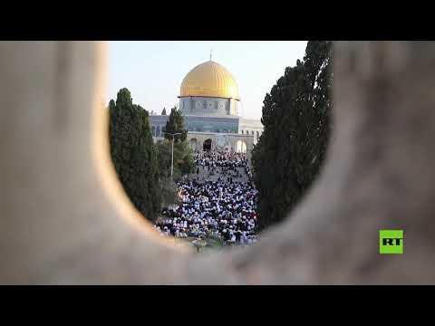 أكثر من مئة ألف مصل يؤدون صلاة عيد الأضحى بالمسجد الأقصى