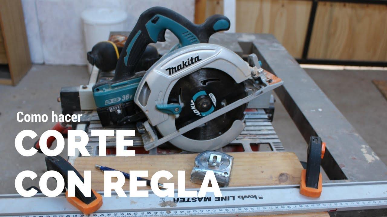 Como cortar con sierra circular youtube for Sierra de cortar