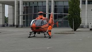 RTH Christoph 12 BMI Start Einsatz vor MUK Lübeck 18.05.2018