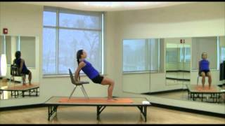Mini Yoga Workout (33 Of 37): Chair Reverse Plank, Chair Downward Facing Dog