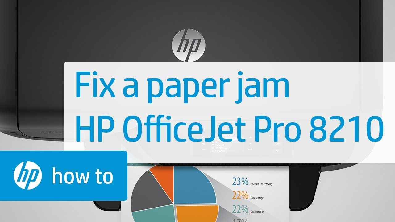 Fixing A Paper Jam On The Hp Officejet Pro 8210 Printer