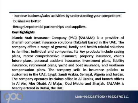 Islamic Arab Insurance Company (PSC) (SALAMA) : Company Profile and SWOT Analysis