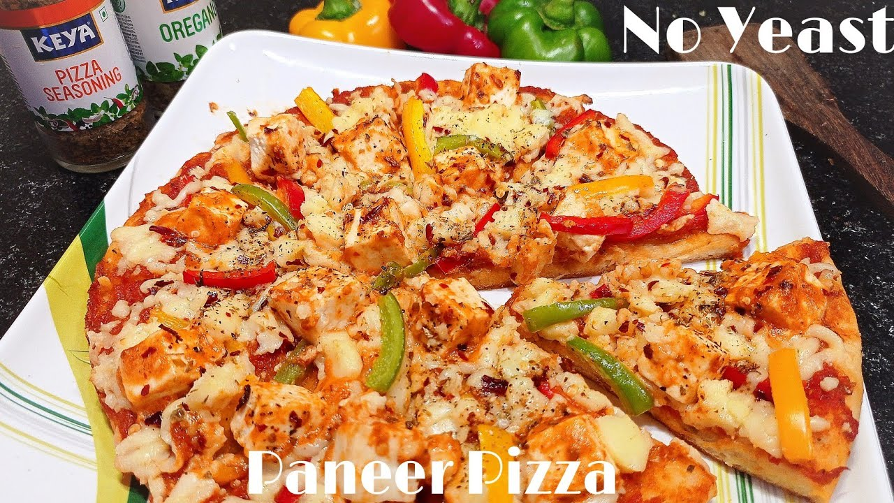 Peppy Paneer Pizza   No Oven Pizza recipe   Pizza Sauce recipe   Pizza Dough Recipe without yeast