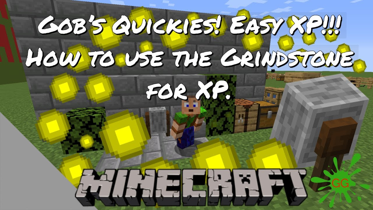 How to get easy XP in Minecraft Survival! Uses of the Grindstone.