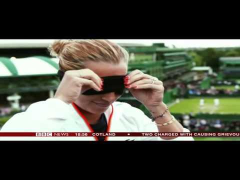 Dominika Cibulkova smells tennis balls - BBC News 2016 07 03