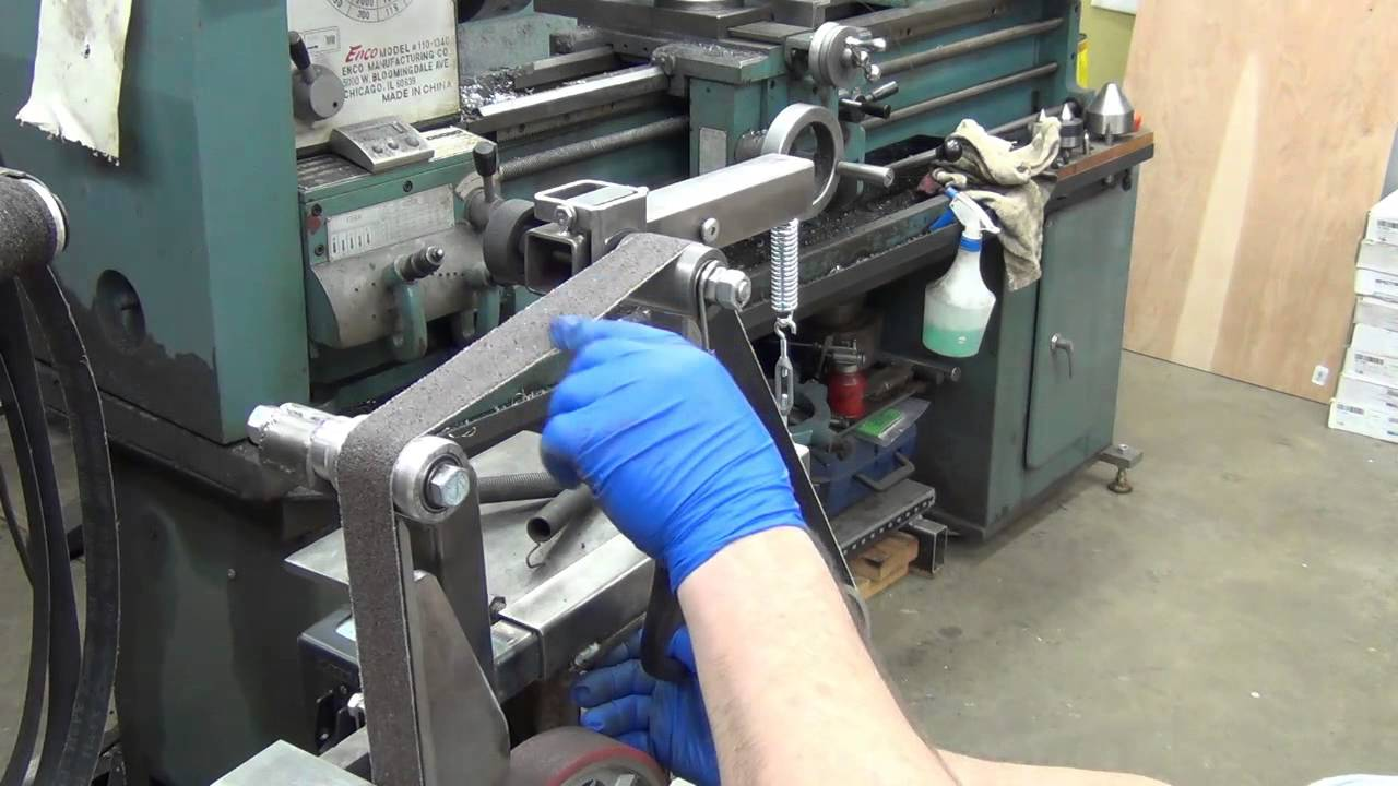 Belt grinder attachment