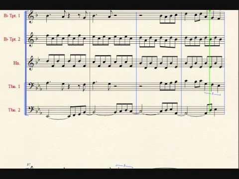 A Journey Medley for Brass Quintet Sheet Music