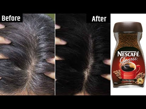 White Hair To Black Permanently in 30 Minutes Naturally | Coffee For Jet Black At Home | 100% Works