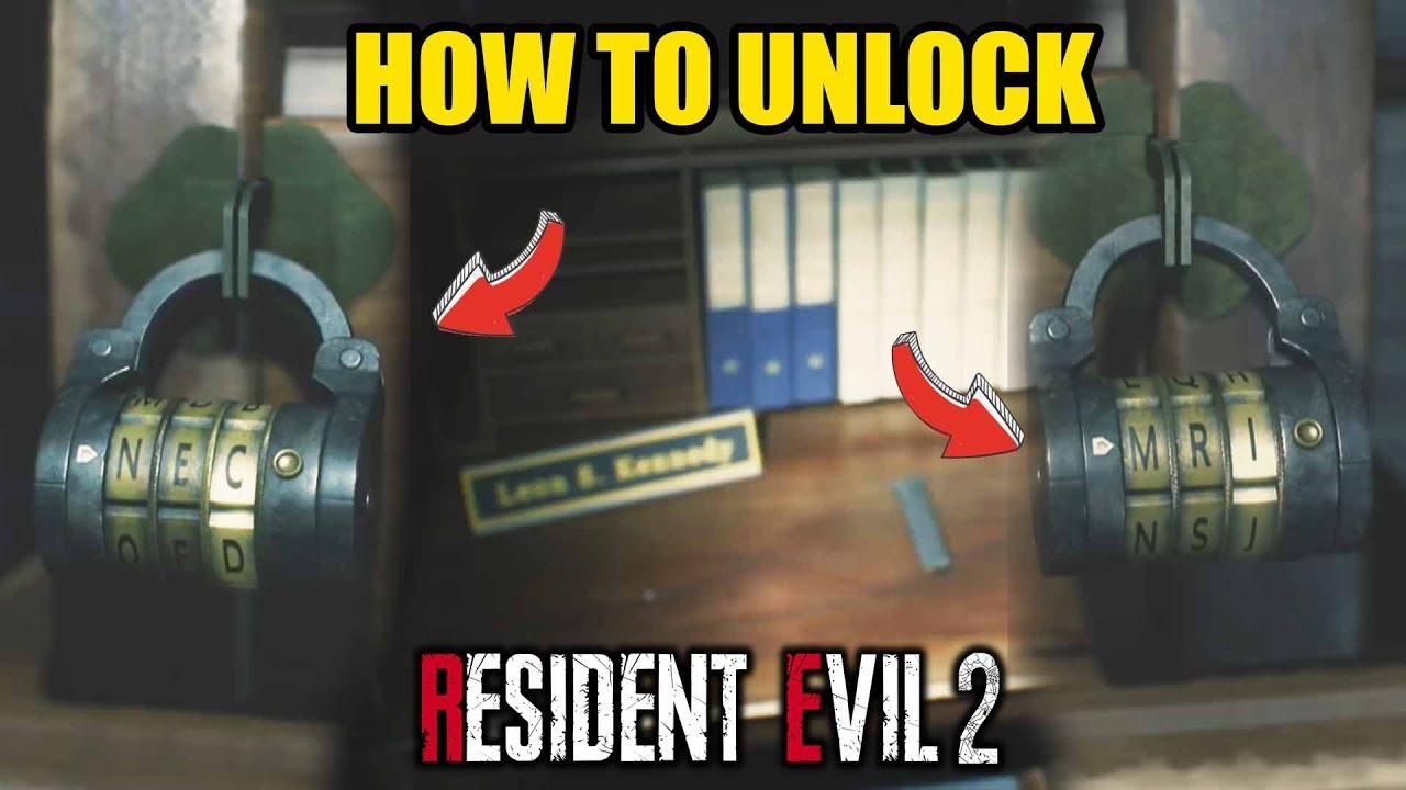 How To Unlock Combination Locks Leon S Desk Resident Evil 2