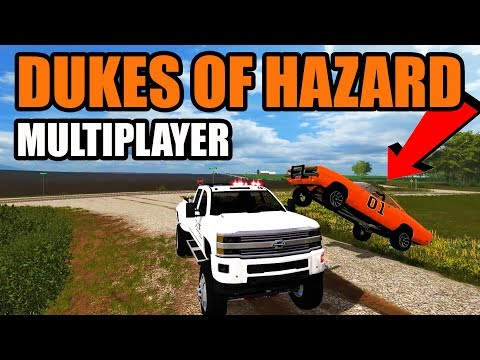 NEW DUKES OF HAZARD GAME (FS17) | RUNNING FROM THE COPS DOWN THE GRAVEL ROADS WITH GENERAL LEE
