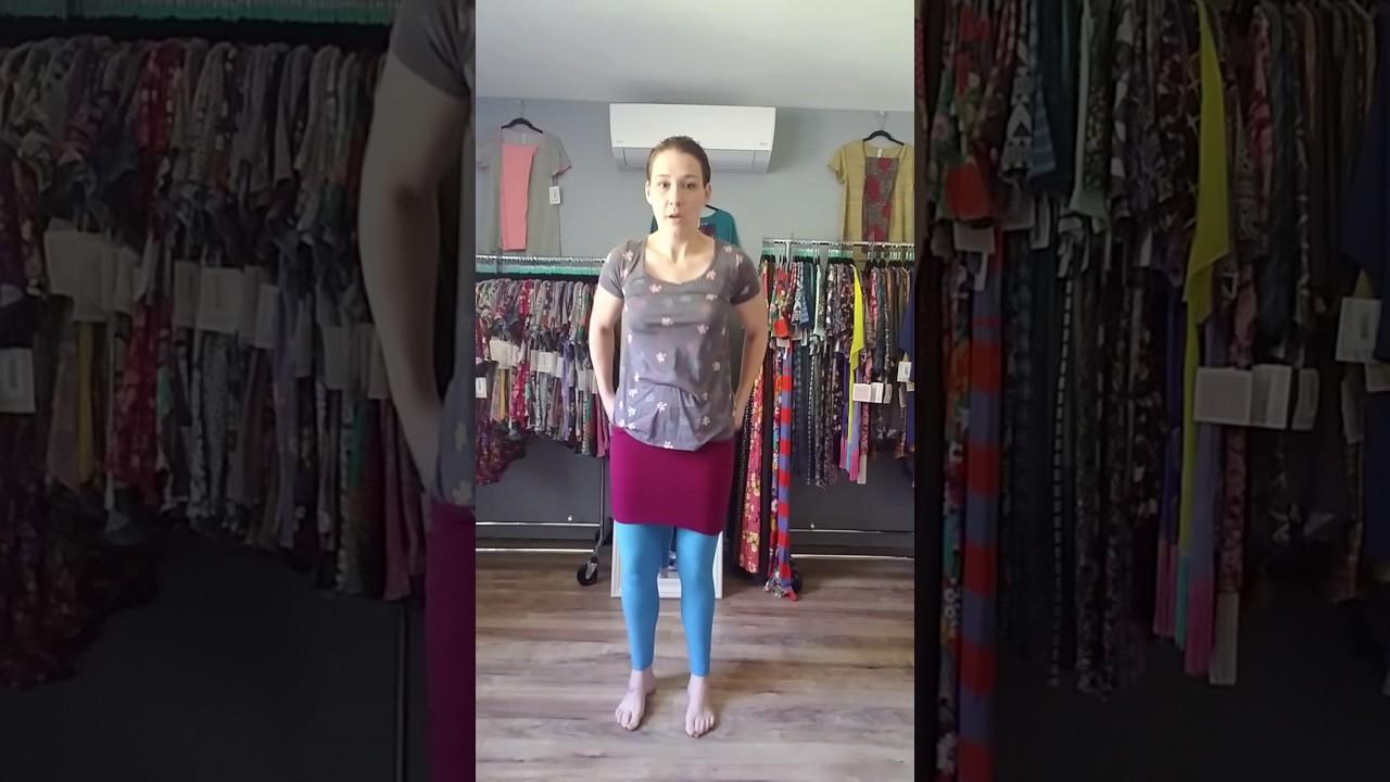 99e7072bda1a1 LuLaRoe Leggings Long Tank Top Trick - YouTube