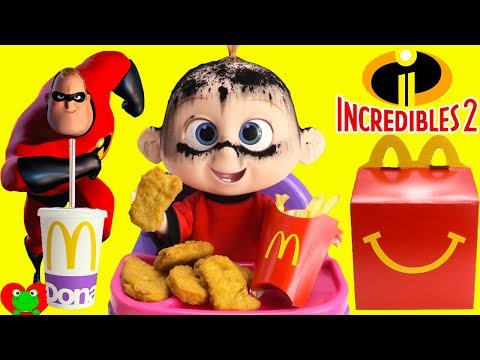 The Incredibles 2 Jack Jack Eats McDonald's Happy Meal