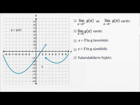 Limit Ve Süreklilik Örnekleri (Matematik) (Cebir) (Kalkülüs Öncesi)