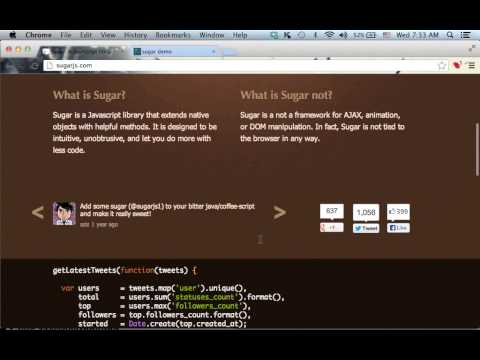 Introduction To Sugar.js