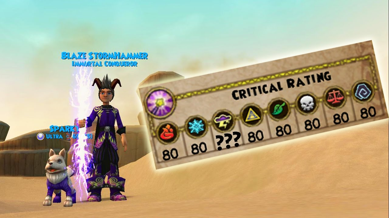 Repeat Wizard101: My 120 Storm Stats - The NEW Storm