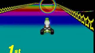 Mario Kart 64 N64 Rainbow Road 150CC 1st Place 1st Try No Glitches Ending Credits