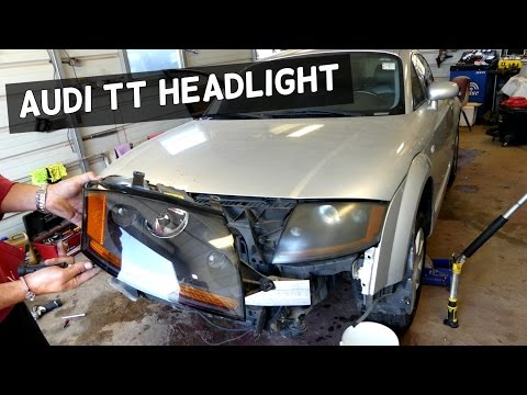 AUDI TT HEADLIGHT REMOVAL REPLACEMENT