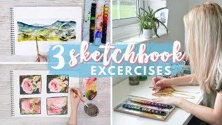 IMPROVE YOUR ART | 3 Sketchbook Exercises, Composition, Colour & Abstract