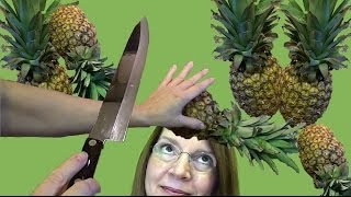 SKILFULLY CUT UP A PINEAPPLE! Peel a Pineapple Fast! It