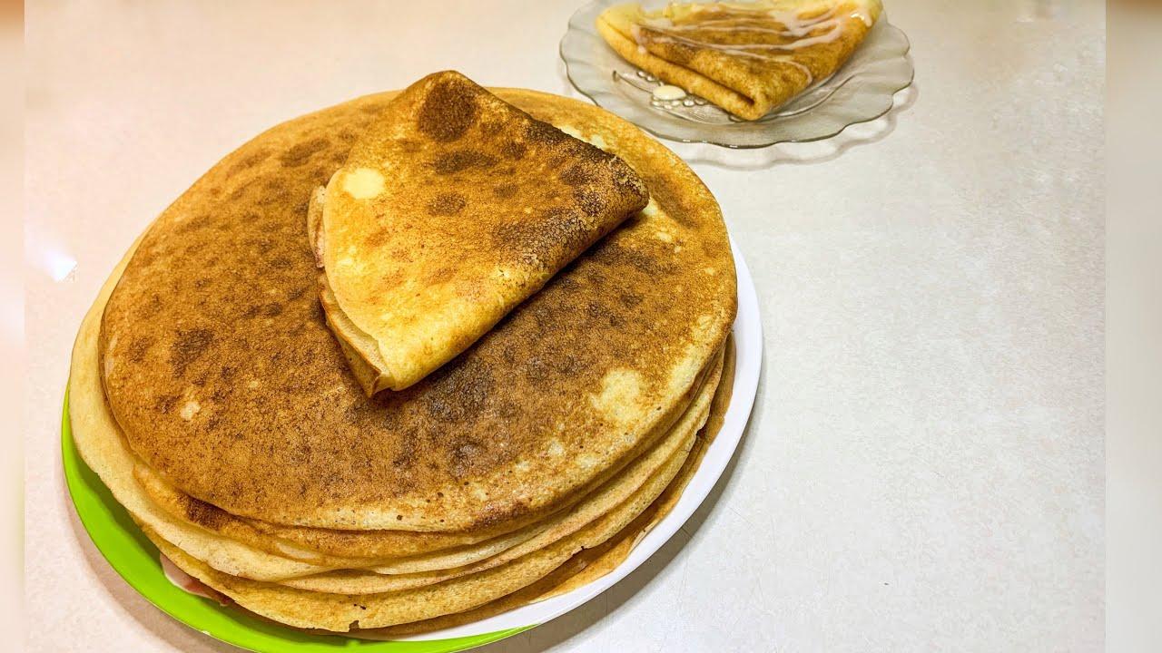 Творожные заварные блинчики / рецепты на Масленицу / рецепт блинов